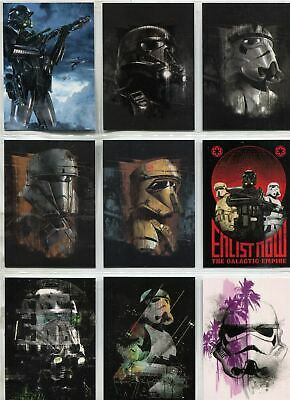 Star Wars Rogue One Series 2 Complete Troopers Chase Card Set TR1-10