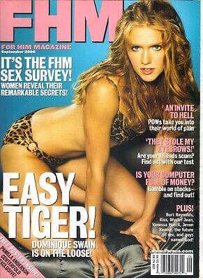 DOMINIQUE SWAIN FHM Magazine September 2000 9/00 VANESSA MARCIL PAMELA ANDERSON