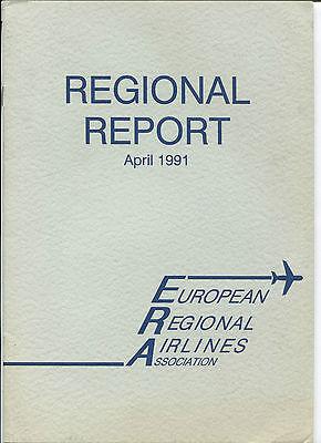 EUROPEAN REGIONAL AIRLINES REPORT APRIL 1991
