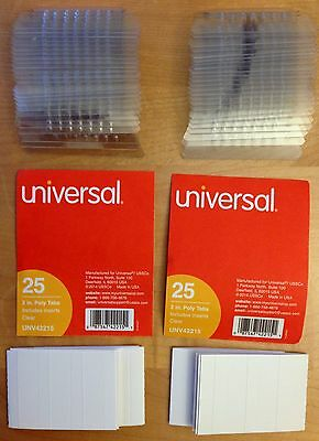 50 Clear 2 Plastic 15 Cut Tabs With Blank Inserts For Hanging File Folders