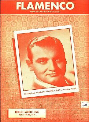 FRANKIE LAINE FLAMENCO SHEET MUSIC-PIANO/VOCAL/GUITAR/CHORDS-VERY RARE-1951-NEW Flamenco Guitar Chords
