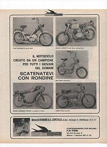 Pubblicita-1970-MOTO-CICLO-RONDINE-MOTOR-CROSS-old-advertising-werbung-publicite