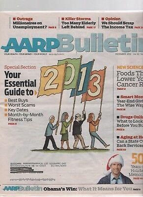 Bulletin Guide - AARP Bulletin - December 2012 - Essential Guide to 2012, Cancer Risk. Obama.