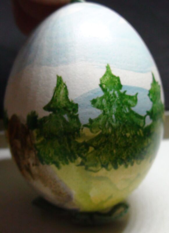 AUSTRIAN HAND-PAINTED REAL EGG CHRISTMAS TREE DECORATION BRAND NEW