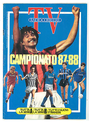 TV RADIOCORRIERE SUPPLEMENTO N 37 SETTEMBRE 1987 CALCIO CAMPIONATO SERIE A 87/88