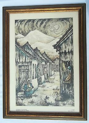 """Zvi Livni  Panting, Print, Maabara In The Sands  Signed By Artist 16""""  by"""