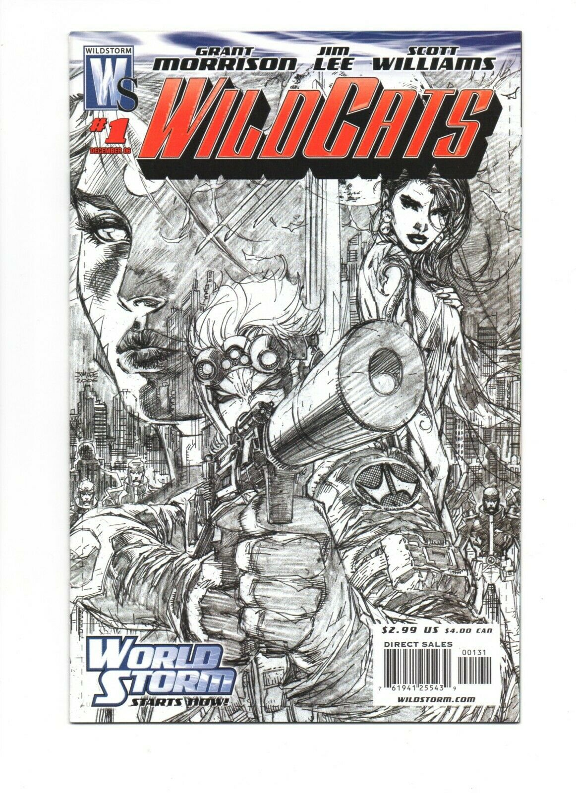 Wildcats 1 1 50 Jim Lee Sketch Variant High Grade Wildstorm 2006 - $10.50