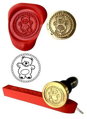 - Teddy Bear Wax Stamp Seal Starter set KIT or get Coin only XWS039B/XWSC078