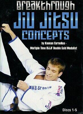 BREAKTHROUGH JIU JITSU CONCEPTS Keenan Cornelius 5 DVD Training Set BJJ B523