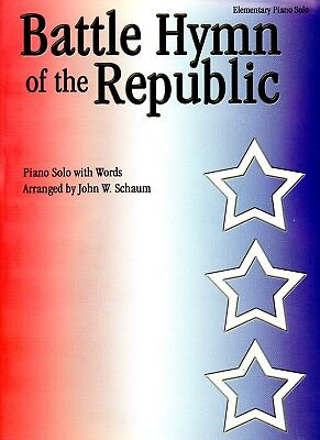 BATTLE HYMN of the REPUBLIC ~Elementary Piano Solo w/ words by John W