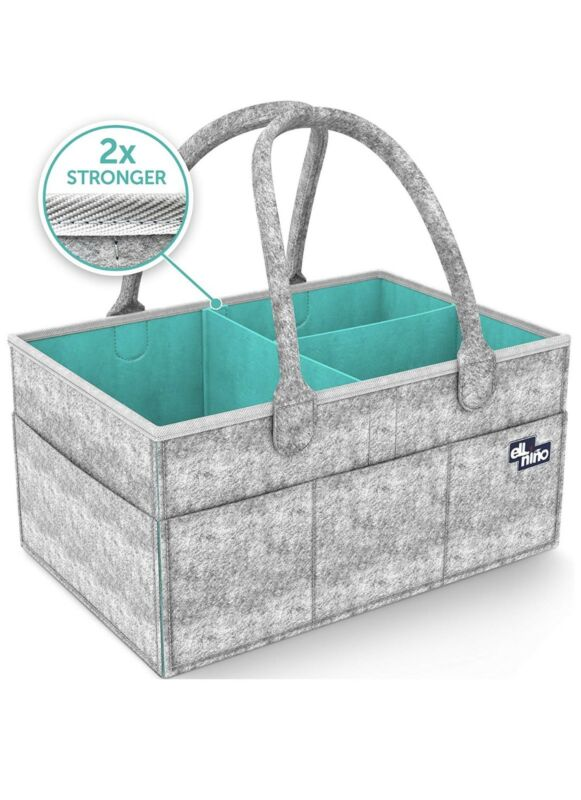 Baby Diaper Caddy Organizer - Portable Large diaper caddy tote - Car Travel Bag