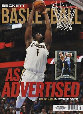 Beckett Basketball Price Guide Magazine May 2020 Zion Williamson cover