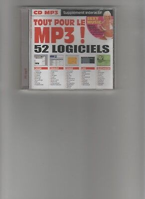 CD ROM 52 LOGICIELS MP3 2001 + Strip tease