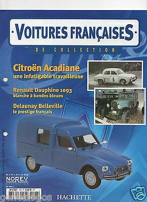 CARS FRENCH HACHETTE SPECIFICATION NO.108 CITROEN ACADIANE -