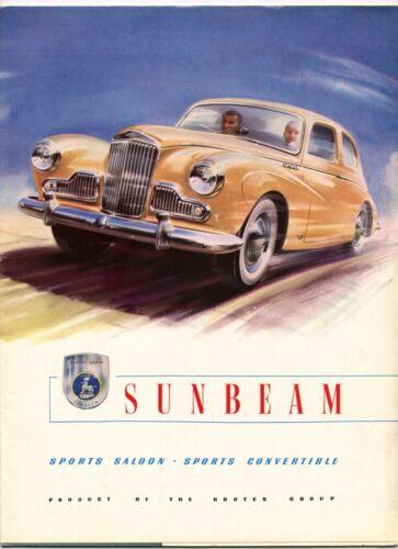 Sunbeam Mk.III Sports Saloon & Convertible brochure Prospekt, 1954