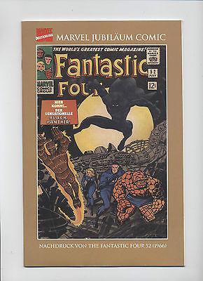 FANTASTIC FOUR # 52 - BLACK PANTHER - GERMAN REPRINT / VARIANT - MARVEL - TOP