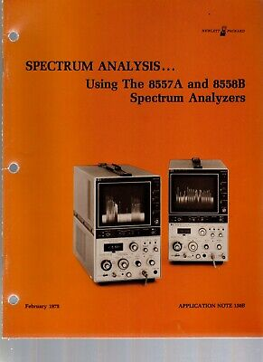 Hp Application Note 150b Spectrum Analysis Using 8557a 8558b Spectrum Analyzer