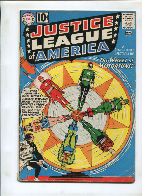 JUSTICE LEAGUE OF AMERICA #6 (VG+) 1961