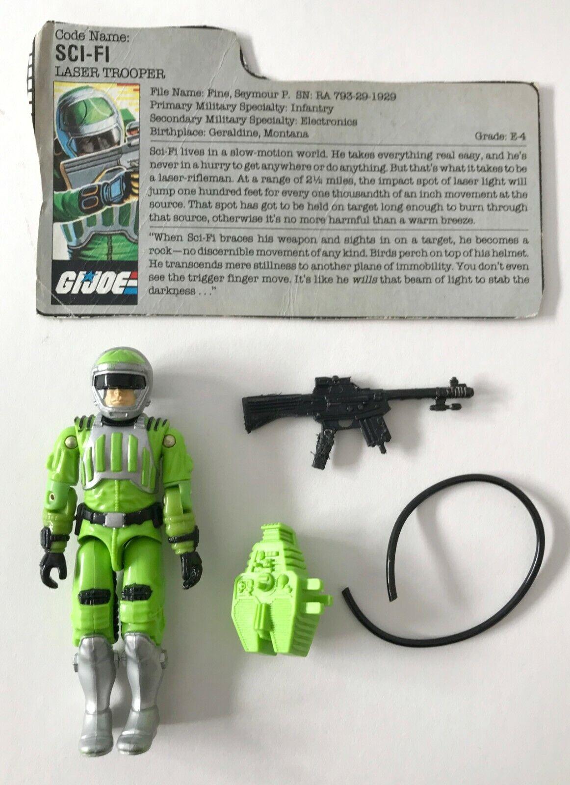 Vintage Gi G.I. JOE Sci-Fi Figure Loose With File Card - $14.99