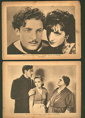 LILIOM (1930) two photo cards from Spain * Estelle Taylor & Charles Farrell *lot