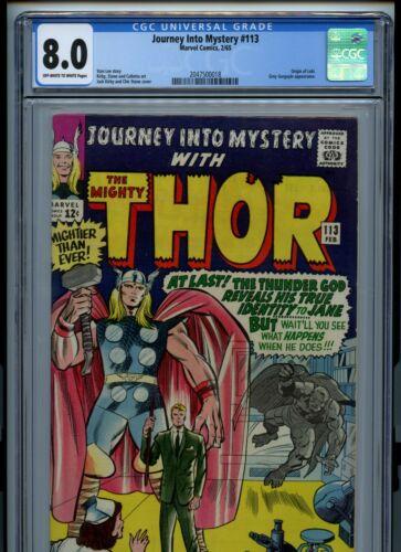 Journey Into Mystery #113 CGC 8.0 Origin Loki Grey Gargoyle