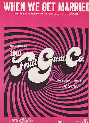 1910 Fruit Gum Co. sheet music When We Get Married 1970 3 pages (NM shape)