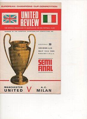 Man Utd v Milan - European Cup semi-final 1969