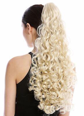 Haarteil Zopf Pferdeschwanz lang voluminös stark gelockt lockig - Lange Haare Blonde