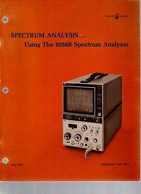 Hp Application Note 150a Spectrum Analysis Using The 8558b Spectrum Analyzer