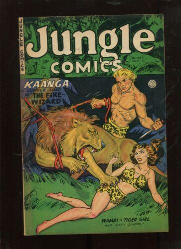 JUNGLE COMICS #154 (7.0) THE FIRE WIZARD