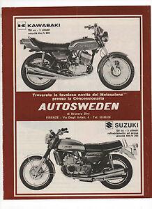 Pubblicita-1972-KAWASAKI-SUZUKI-750-MOTO-MOTOR-advertising-werbung-publicite