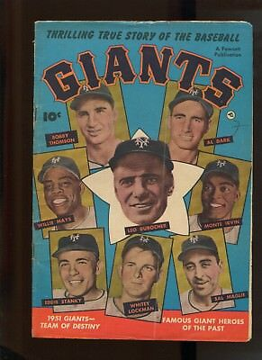 THRILLING TRUE STORY OF THE BASEBALL GIANTS #1 (4.5) WILLIE MAYS!