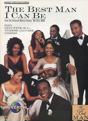 1999 Sheet Music THE BEST MAN I CAN BE from The Best Man