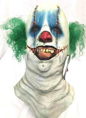 Scary Halloween Head Neck & Face Mask Clown Vago Creepy Party Costume GHOULISH - Ghoulish Costumes Halloween