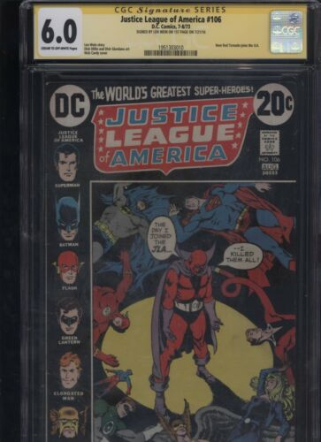 Justice League of America #106 CGC 6.0 SS Len Wein 1973
