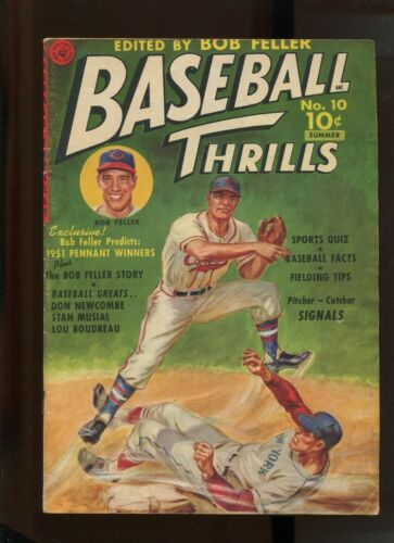 BASEBALL THRILLS  #10 (#1) (5.0) BOB FELLER