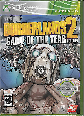 Xbox 360 Games - Borderlands 2 GOTY Game of the Year Edition Microsoft Xbox 360 Brand New Sealed