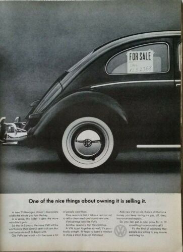 Lot of 12 Vintage VW Volkswagen Bug Print Ads