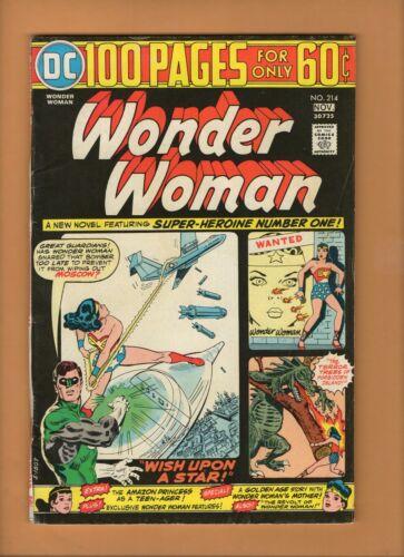 Wonder Woman #214 DC Comics 1974 100 pages! VG+