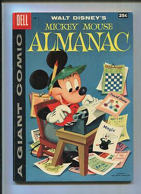 Mickey Mouse Almanac #1 (7.5) Dell A Giant Comic - 1957