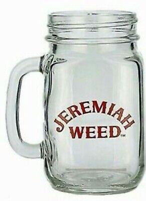 2 x Jeremiah Weed Mason Jam Jar Glasses