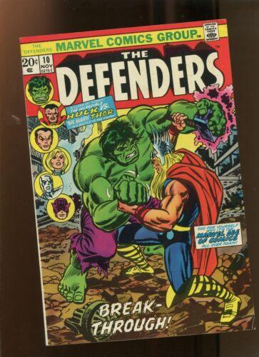 DEFENDERS #10 (5.0) BREAK THROUGH!! 1973