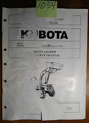 Kubota La1001 Front Loader Sn 20000- Illustrated Parts List Manual 398