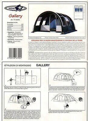 Tenda Campeggio NOVA Gallery 5 Posti 2 camere, tunnel Camping Trekking Vacanza