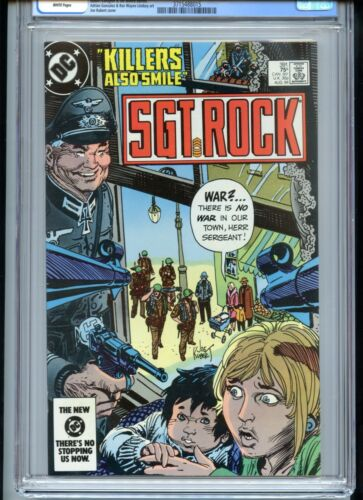 Sgt Rock #391 CGC 9.8 White Pages Joe Kubert Cover