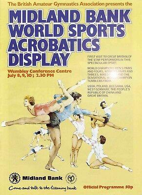 Midland Bank World Sports Acrobatics Display Programme July 1981 (Gymnast Mag)