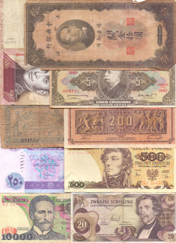 Lot of 10 Different World Banknotes - (11)