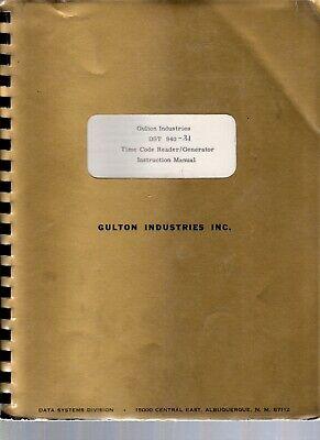 Original Gulton Industries Dst 940 Time Code Readergenerator Instruction Manual