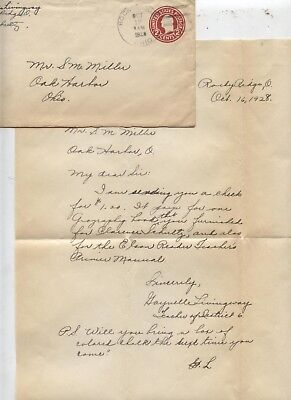 1928 Rocky Ridge Oak Harbor Ohio School Teacher Letter Halloween Party Invite  - School Halloween Party Letter
