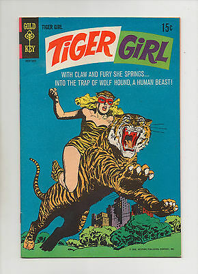 Tiger Girl #1 - Wolf Hound! Advertising Back Cover - (Grade 8.5) 1968
